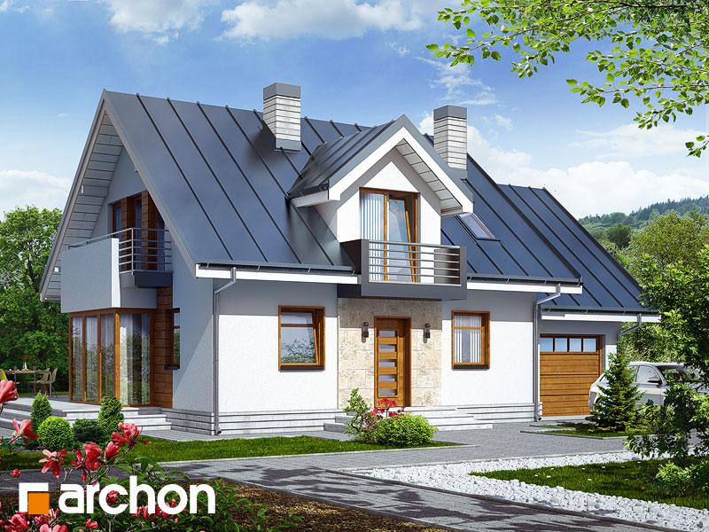 gotowy projekt Dom w rododendronach 6 (N) widok 1