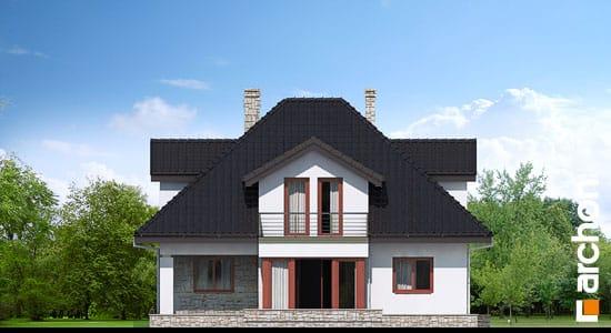 Elewacja boczna projekt dom w czarnuszce g2 ver 2  265