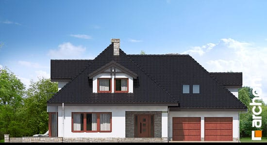Elewacja frontowa projekt dom w czarnuszce g2 ver 2  264