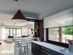 projekt Dom w czarnuszce (G2) Wizualizacja kuchni 1 widok 1