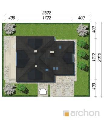 projekt Dom w czarnuszce (G2) sytuacja