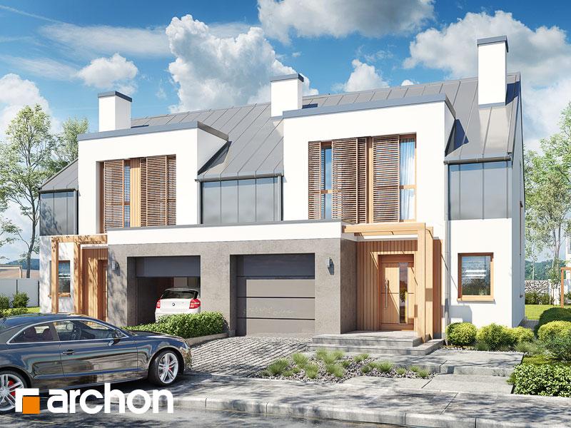 gotowy projekt Dom w klematisach 20 (R2N) widok 1