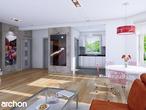 projekt Dom w rododendronach 2 (G2) Strefa dzienna (wizualizacja 1 widok 1)