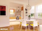 projekt Dom w rododendronach 2 (G2) Strefa dzienna (wizualizacja 2 widok 1)