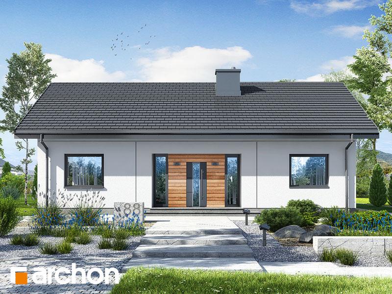 gotowy projekt Dom w kostrzewach 4 (A) widok 1