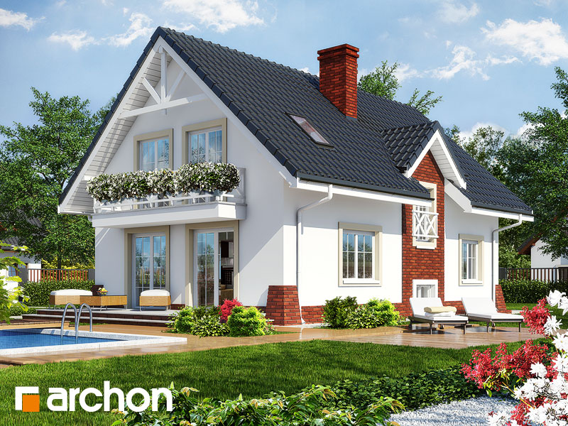 gotowy projekt Dom w groszku 4 widok 1