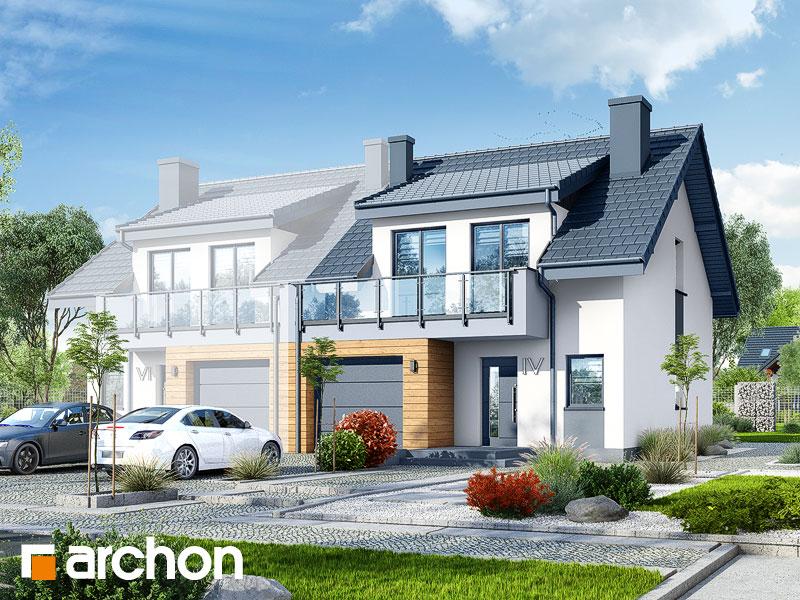 gotowy projekt Dom w klematisach 20 (BTA) widok 1