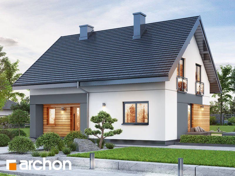 gotowy projekt Dom w malinówkach 11 (P) widok 1