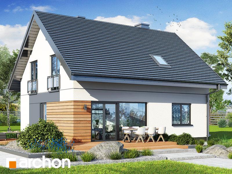 gotowy projekt Dom w malinówkach 11 (P) widok 2