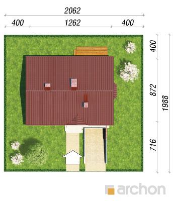projekt Dom w jeżynach sytuacja