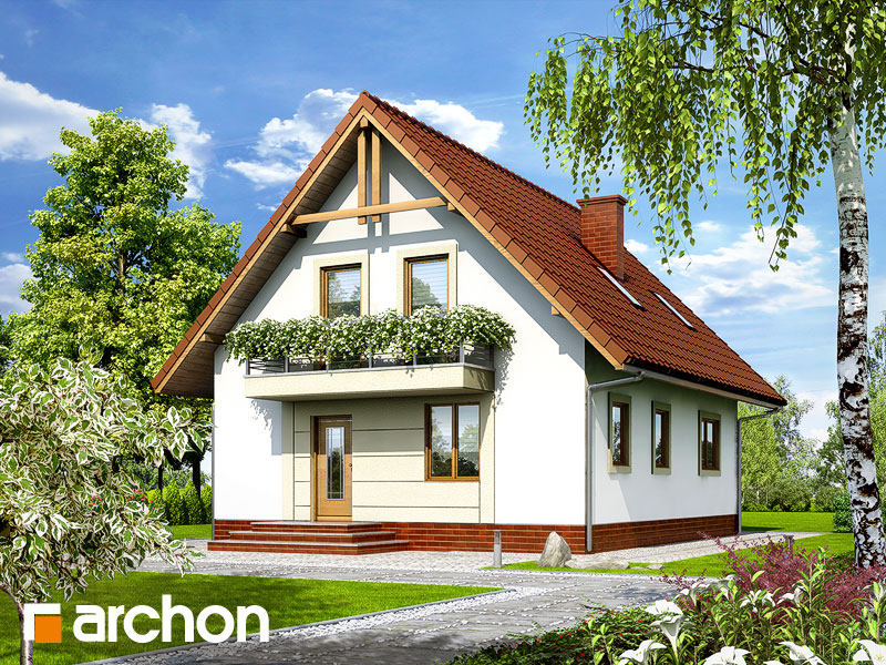 gotowy projekt Dom w prymulkach 2 widok 1