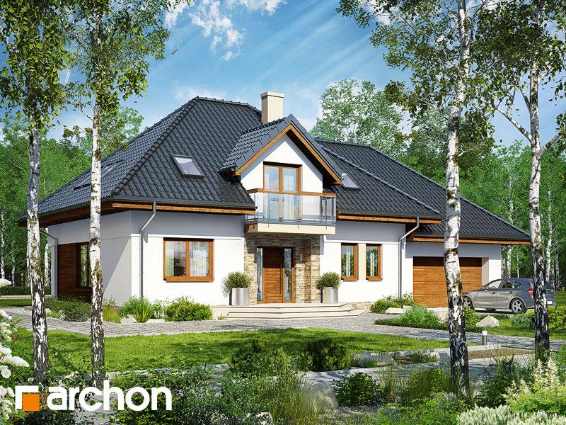 gotowy projekt Dom pod krzewuszką (G2) widok 1