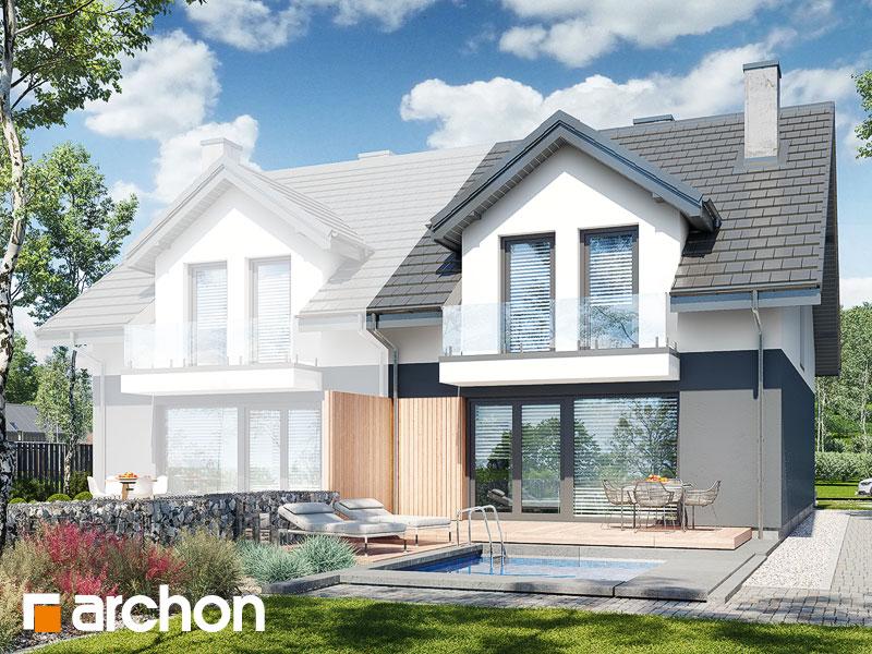 gotowy projekt Dom pod miłorzębem 19 (GB) widok 2