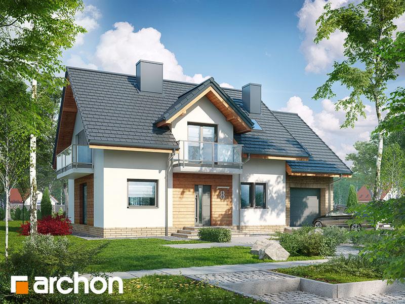 gotowy projekt Dom w rododendronach 23 widok 1