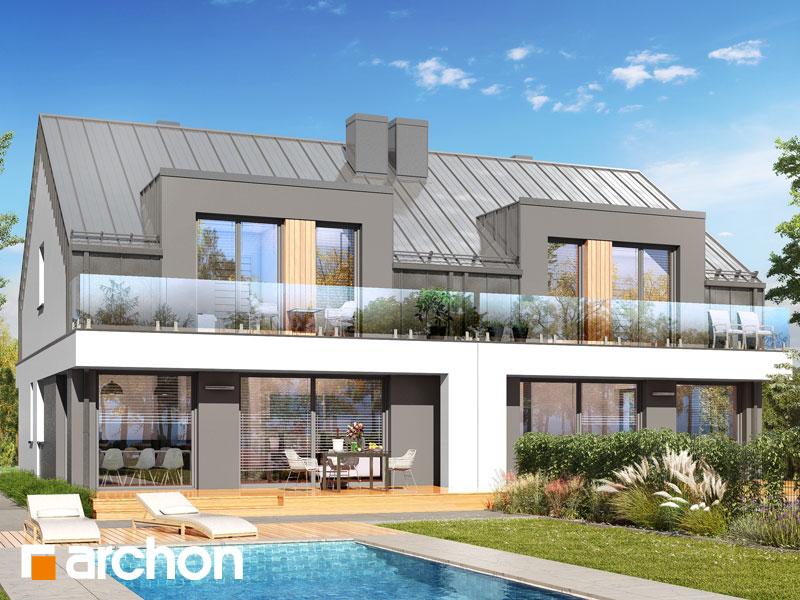 gotowy projekt Dom w klematisach 31 (R2) widok 1