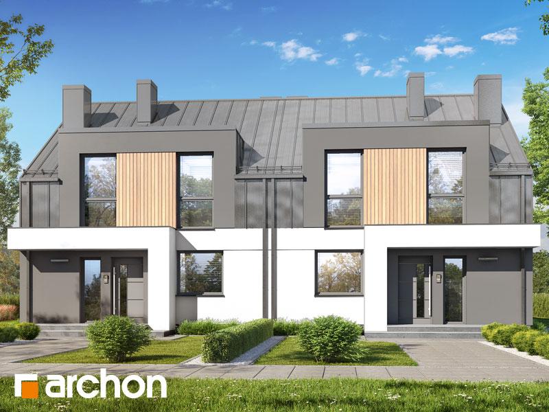 gotowy projekt Dom w klematisach 31 (R2) widok 2