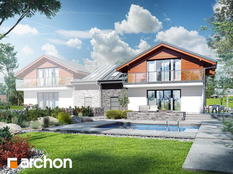 gotowy projekt Dom w budlejach (AB) widok 1