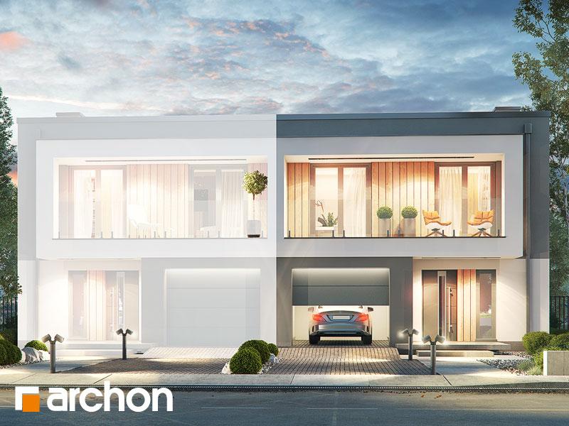 gotowy projekt Dom w klematisach 24 (B) widok 1