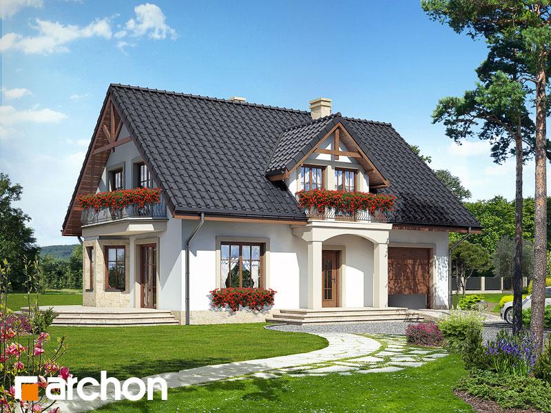 gotowy projekt Dom w aksamitkach 2 widok 1