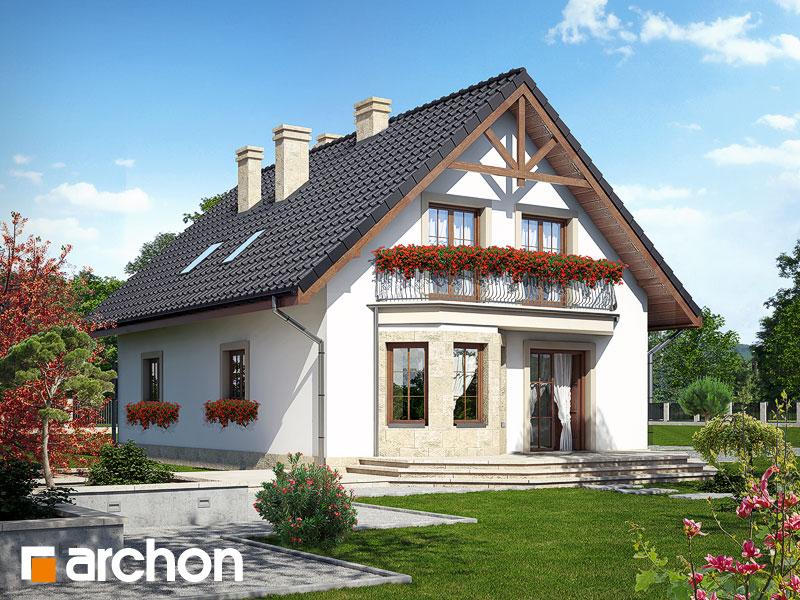 gotowy projekt Dom w aksamitkach 2 widok 2