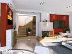 projekt Dom w tamaryszkach 2 Strefa dzienna (wizualizacja 1 widok 1)