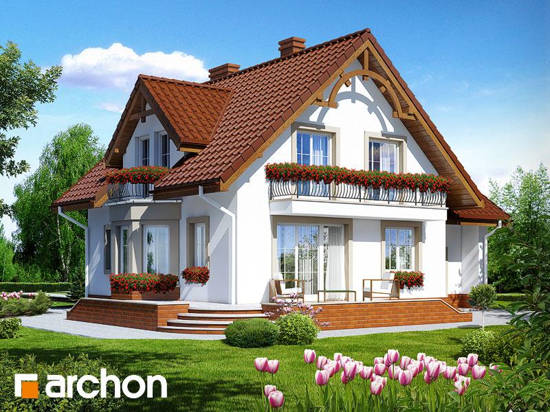 gotowy projekt Dom w tamaryszkach 2 widok 1