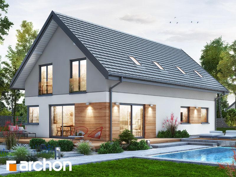 gotowy projekt Dom w zielistkach 9 (G) widok 1