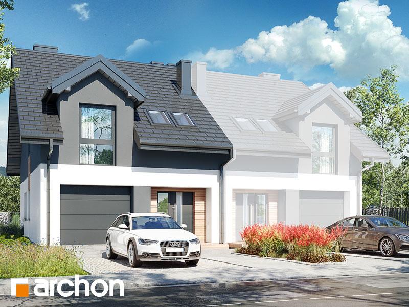 gotowy projekt Dom w dyptamach (B) widok 1