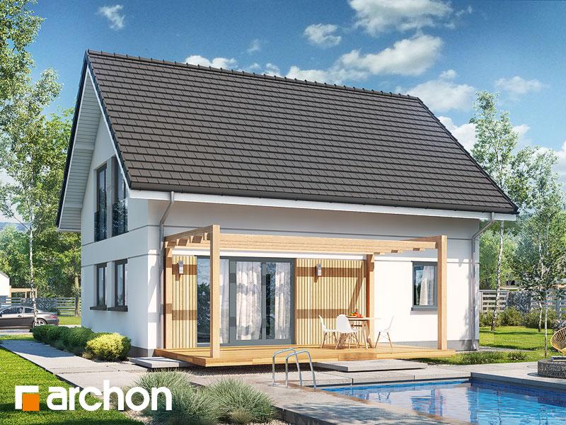 gotowy projekt Dom w zielistkach (E) widok 1