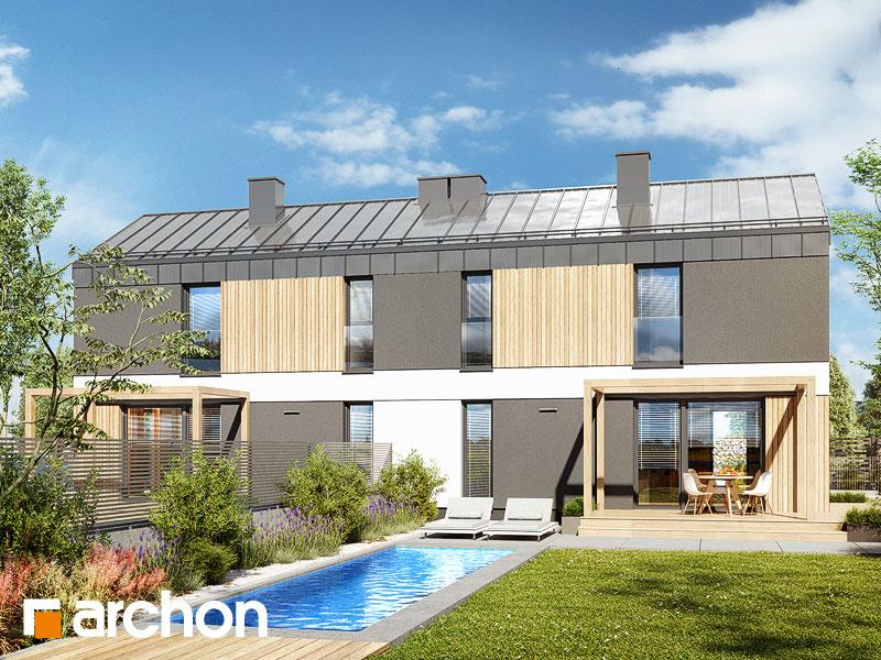 gotowy projekt Dom w everniach (R2) widok 2