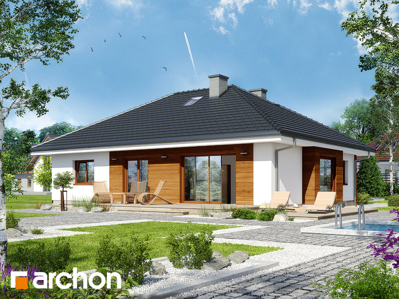 gotowy projekt Dom w bodziszkach (D) widok 1