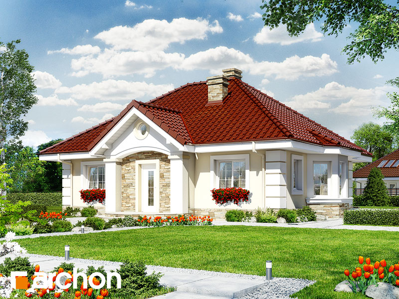 gotowy projekt Dom w lotosach 2 widok 1