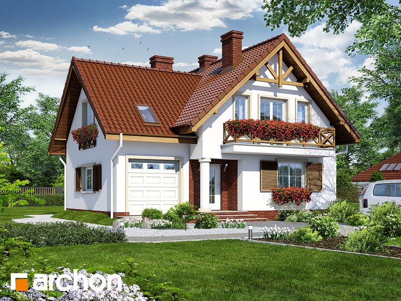 gotowy projekt Dom w skalniakach widok 1
