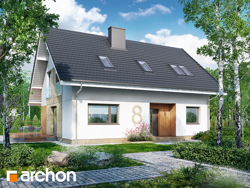 gotowy projekt Dom w kordiach widok 1