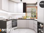 projekt Dom w rododendronach 6 (A) Aranżacja kuchni 1 widok 1