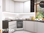 projekt Dom w rododendronach 6 (A) Aranżacja kuchni 1 widok 2