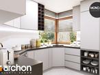 projekt Dom w rododendronach 6 (A) Aranżacja kuchni 1 widok 3