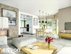 projekt Dom w rododendronach 6 (A) Strefa dzienna (wizualizacja 2 widok 1)