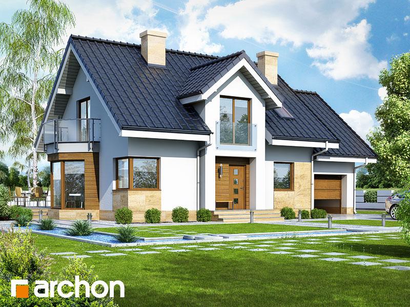 gotowy projekt Dom w rododendronach 6 (A) widok 1