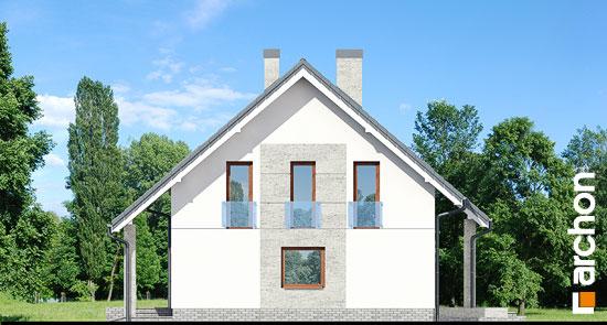 Elewacja boczna projekt dom w pieknotkach 2 p  265