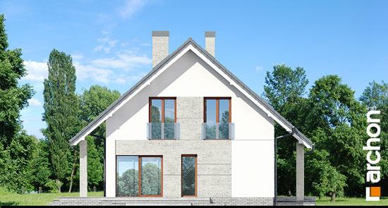 Elewacja boczna projekt dom w pieknotkach 2 p  266