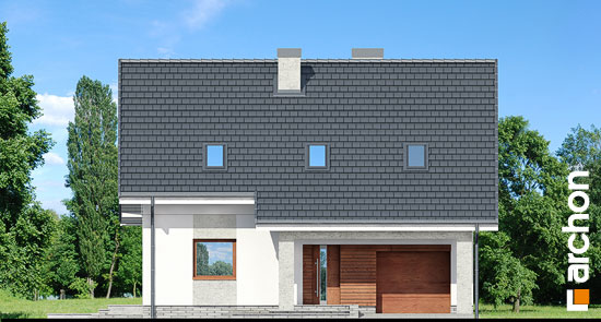 Elewacja frontowa projekt dom w pieknotkach 2 p  264
