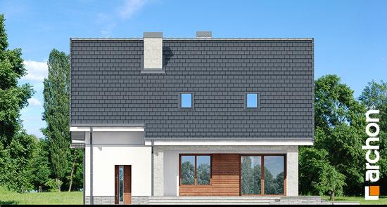 Elewacja ogrodowa projekt dom w pieknotkach 2 p  267