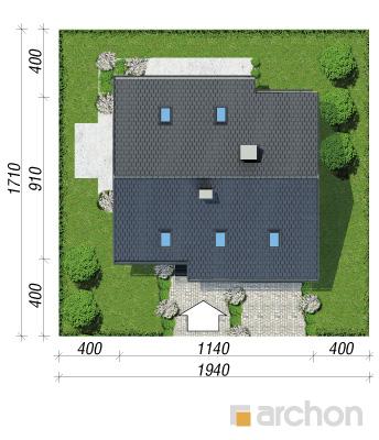 projekt Dom w pięknotkach 2 (P) sytuacja