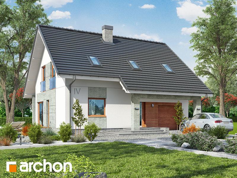 gotowy projekt Dom w pięknotkach 2 (P) widok 1