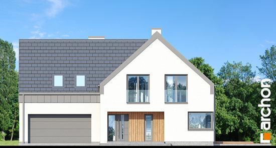 Elewacja frontowa projekt dom w orliczkach g2n  264
