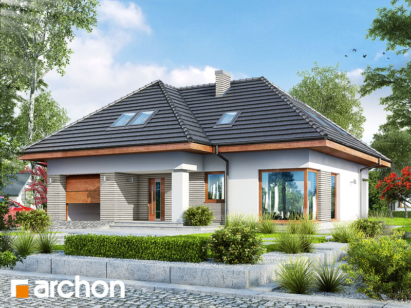 gotowy projekt Dom w katlejach widok 1