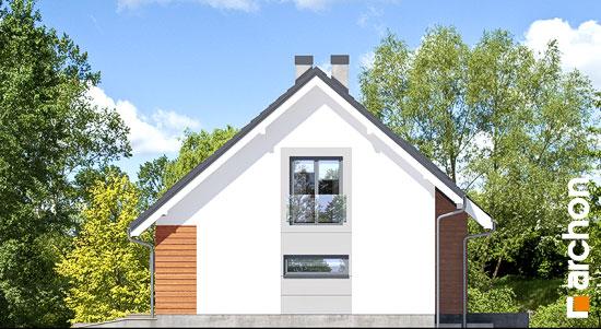Elewacja boczna projekt dom w miodokwiatach 3 p  265