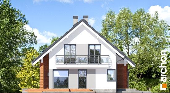 Elewacja boczna projekt dom w miodokwiatach 3 p  266
