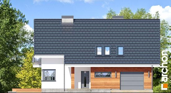 Elewacja frontowa projekt dom w miodokwiatach 3 p  264